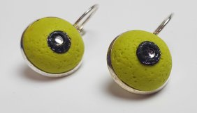 FD 26 Wasabi green earrings front