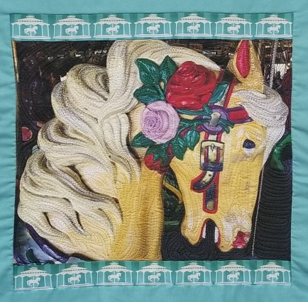 Carousel Horse quilted wide hr
